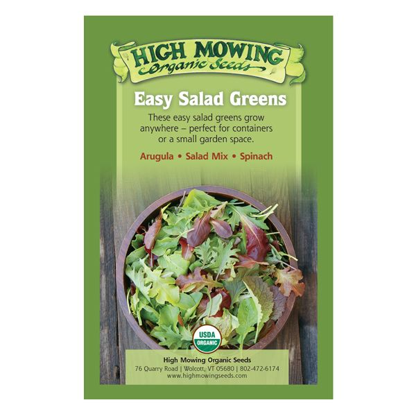 Easy Salad Greens Organic Seed Collection