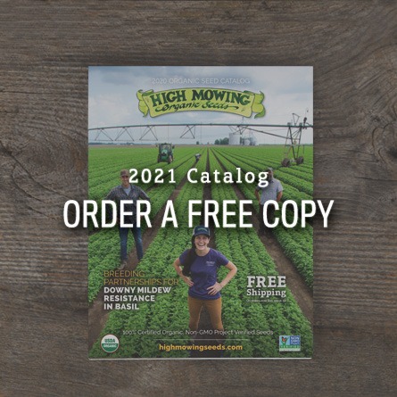 Order a free copy of the 2021 High Mowing Organic Seeds Catalog