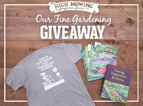 Our Fine Gardening GIVEAWAY!