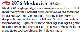 Days to Maturity for Moskovich